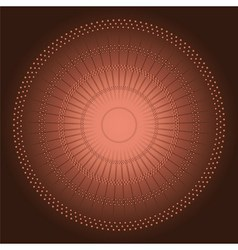 Abstract Circles mosaic brown Background vector