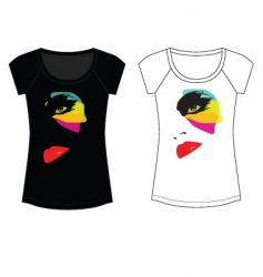 abstract fashion woman t shirt vector image