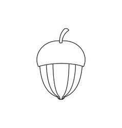 Acorn icon outline style vector image