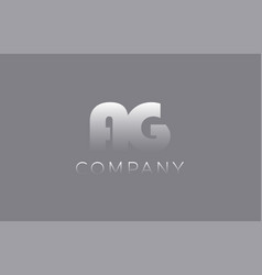 Ag a g pastel blue letter combination logo icon vector