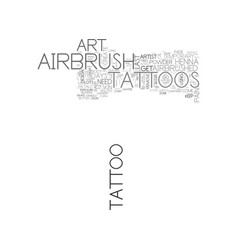 airbrush art tattoos text word cloud concept vector image