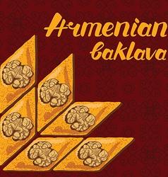 Armenian baklava vector