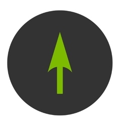 Arrow Axis Y flat eco green and gray colors round vector
