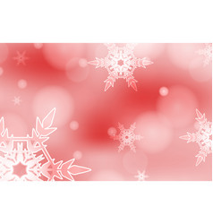 Background template design with snowflake on red vector