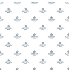 Bastion medieval pattern seamless vector