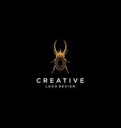 Beetle bug logo diamond logo jewelry logo vector