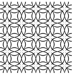 Black and white seamless star pattern - vector