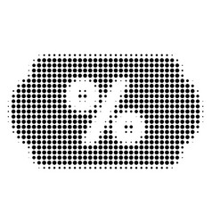 Black dot discount coupon icon vector