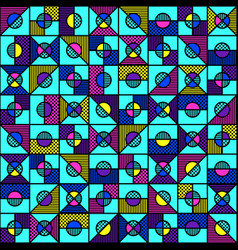 bright geometric seamless pattern in style of the vector image vector image