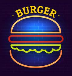 burger logo flat style vector image