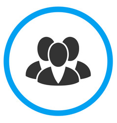 Clients rounded icon vector