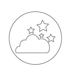 Cloud star icon design vector
