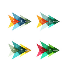 Colorful arrow option infographics banners vector