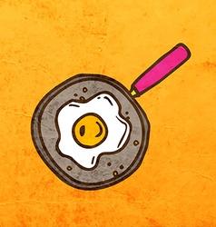 Cooked Eggs Cartoon vector
