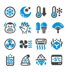 cool icon set vector image