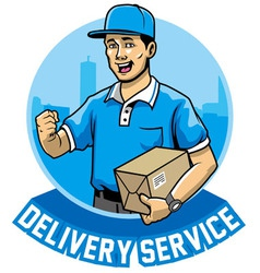 Courier man service vector