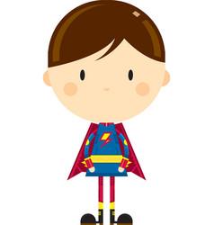 Cute cartoon heroic superhero character vector