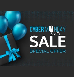 cyber monday sale poster or banner vector image