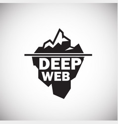 Deep web icon on white background vector