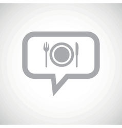 Dinner grey message icon vector