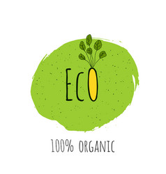eco fresh vegan bio organic green design vector image
