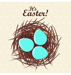 Eggs in nest vector image