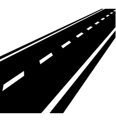 Empty road roadway with perspective and divider vector