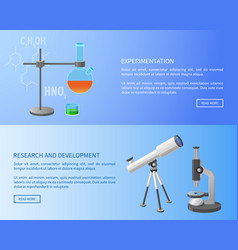 Experimentation research and development web vector