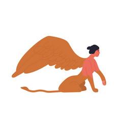 Female mythology fantastic creature sphinx vector