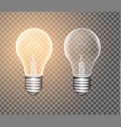figure a luminous light bulb on a transparent vector image