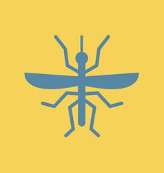 Flying beetle vector