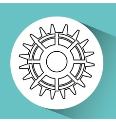 gear wheels design vector image