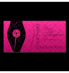 glamour fashion invitation card vector image