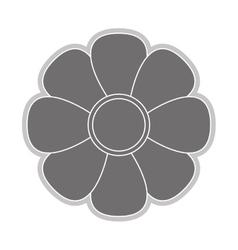 grey flower icon vector image