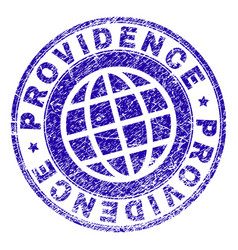 Grunge textured providence stamp seal vector
