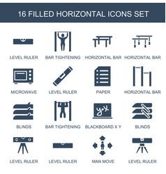 Horizontal icons vector