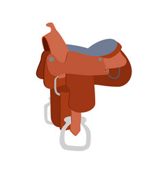 horse saddle icon vector image