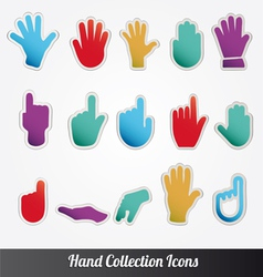Human Hand collection icon set vector image vector image