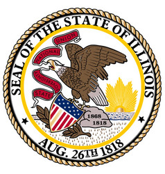 Illinois state seal vector
