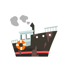 industrial trawler for seafood production fishing vector image