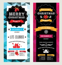 Invitation Merry Christmas vector image vector image