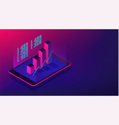 Isometric investment and financial advisory 3d vector