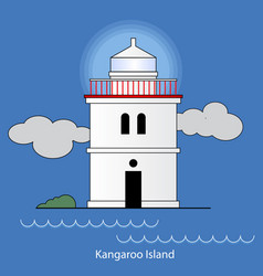 Kangaroo island - australia lighthouse vector