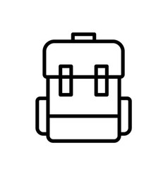 Luggage backpack travel icon vector