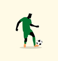 Male figure playing soccer vector