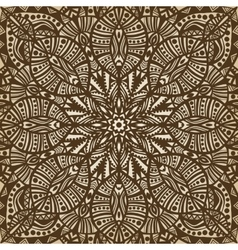 Mandala brown circular pattern background vector