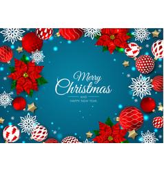 Merry christmas and happy new year xmas festive vector