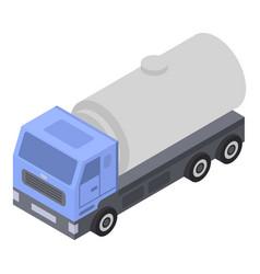 Milk truck cistern icon isometric style vector