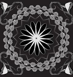 modern luxury greek seamless mandala pattern vector image
