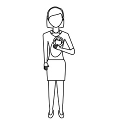 Mother with baby isolated icon vector